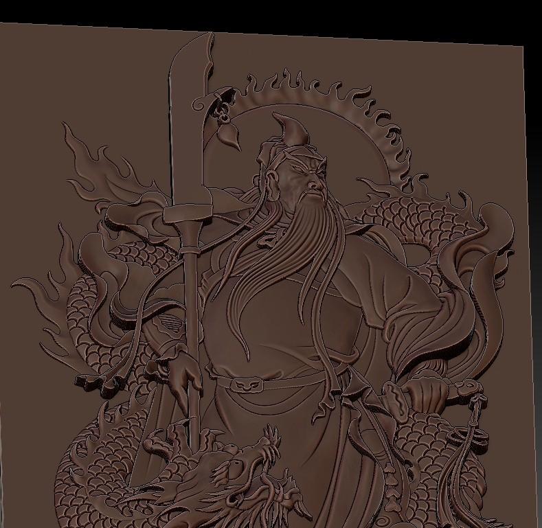 guangongDragon7.jpg Télécharger fichier STL gratuit GuanGong et dragon • Plan imprimable en 3D, stlfilesfree