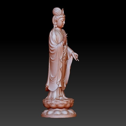 019guanyin5.jpg Download free OBJ file Guanyin bodhisattva Kwan-yin sculpture for cnc or 3d printer19 • Template to 3D print, stlfilesfree