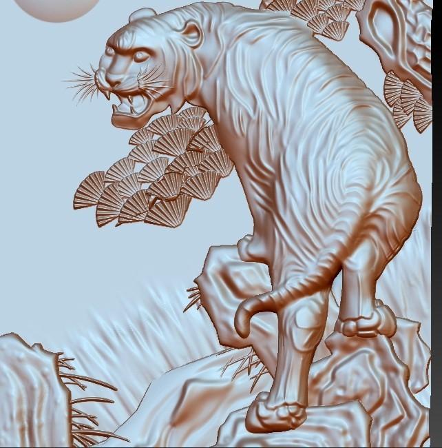 Tiger5.jpg Télécharger fichier STL gratuit tigre • Plan à imprimer en 3D, stlfilesfree