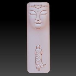 buddhafacemonk1.jpg Télécharger fichier STL gratuit visage de Bouddha et moine • Modèle pour impression 3D, stlfilesfree