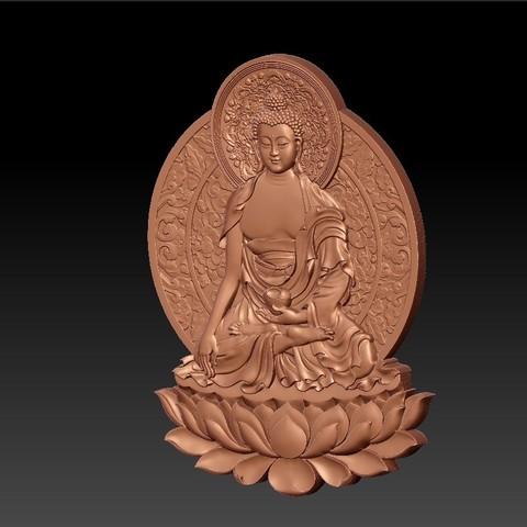 ThailandBuddhaWW2.jpg Télécharger fichier STL gratuit Bouddha de Thaïlande • Modèle à imprimer en 3D, stlfilesfree