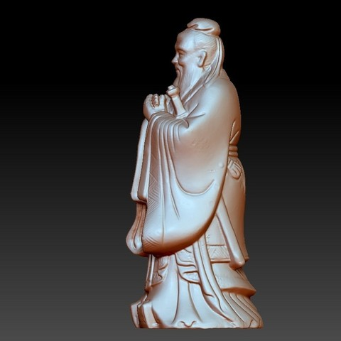 ConfuciusSmall2.jpg Download free OBJ file Confucius statue • 3D printing object, stlfilesfree