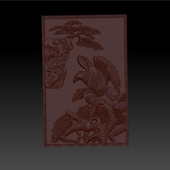eagletree1.jpg Download free STL file eagle 3d model of bas-relief for cnc  • 3D printable design, stlfilesfree