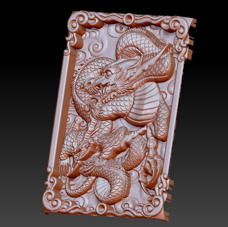 DragonZ3.jpg Download free OBJ file dragon 3d model of relief for cnc or 3d printing • 3D printable template, stlfilesfree