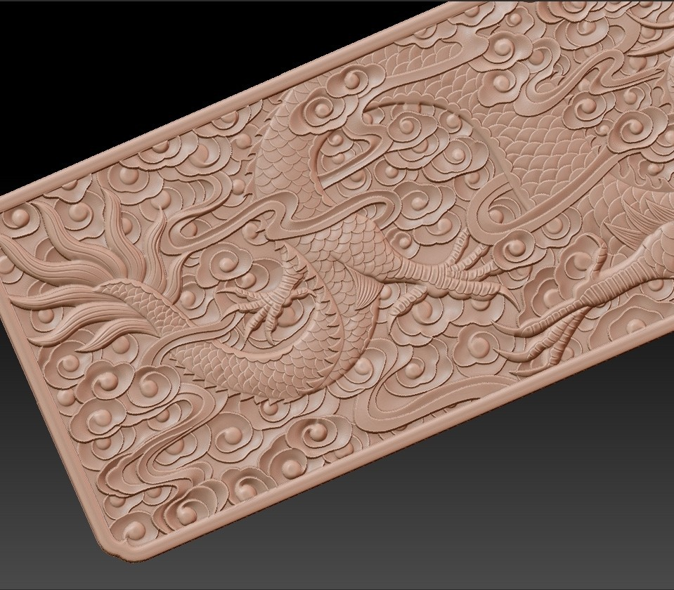 two_dragons9.jpg Download free STL file Chinese classical two-dragons • 3D printer template, stlfilesfree
