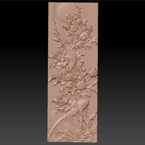 birdsAndFlowers1.jpg Télécharger fichier STL gratuit fleurs et oiseaux • Plan pour impression 3D, stlfilesfree