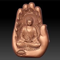 buddhaHand1.jpg Télécharger fichier STL gratuit Bouddha avec fond de main • Plan à imprimer en 3D, stlfilesfree