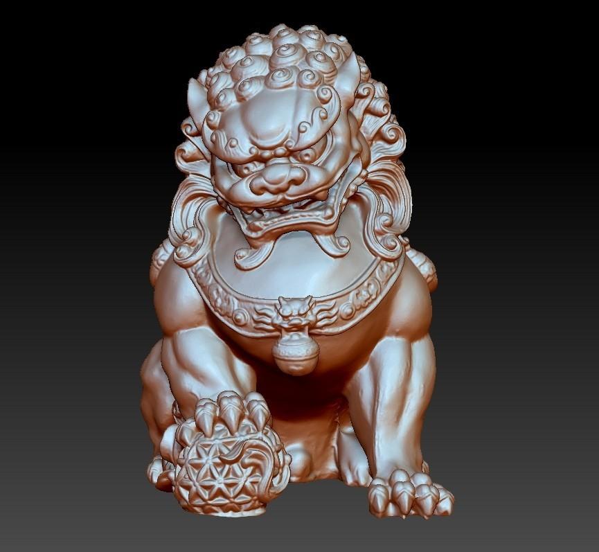 guardianLion3d2.jpg Télécharger fichier OBJ gratuit modèle 3d de lion ou de foo de gardien de chien • Modèle imprimable en 3D, stlfilesfree