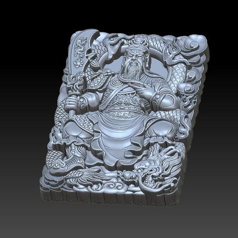 guangong_sitting4.jpg Download free STL file Guangong • 3D printing model, stlfilesfree