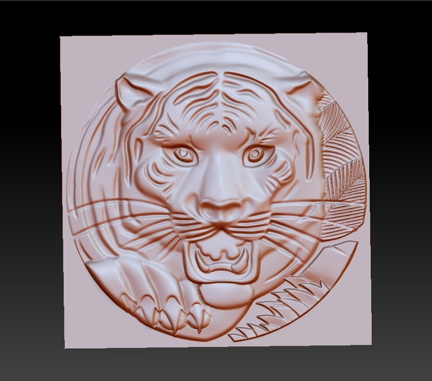 TigerHeadRRR1.jpg Download free STL file tiger head • 3D printable template, stlfilesfree