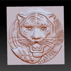 TigerHeadRRR1.jpg Download free STL file tiger head • 3D printable template, stlfilesfree