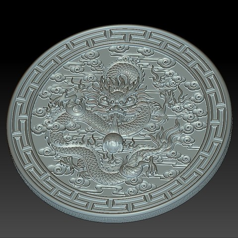 round_Dragon5.jpg Download free STL file dragon • 3D print object, stlfilesfree
