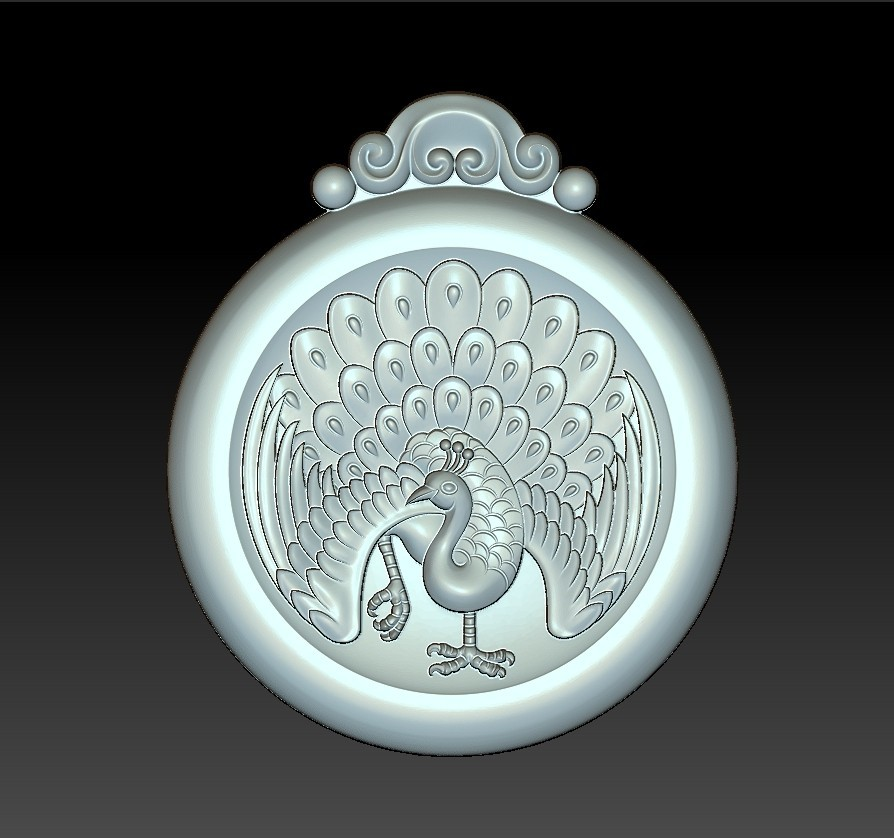 peacock_pendant3.jpg Download free STL file peacock pendant • Model to 3D print, stlfilesfree