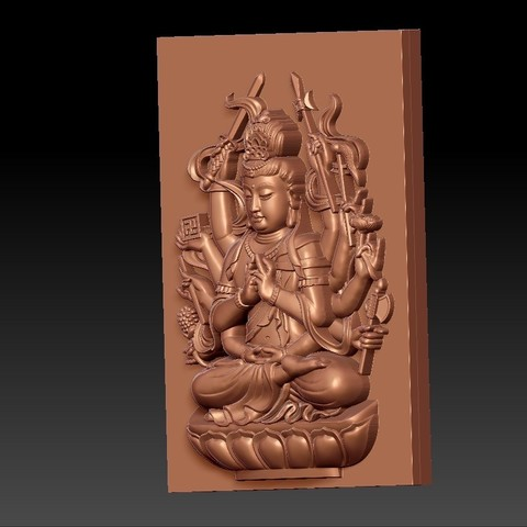 guanyinAQ3.jpg Download free STL file guanyin with thousands of hands • Object to 3D print, stlfilesfree