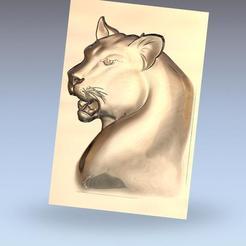 leopard_head1.jpg Télécharger fichier OBJ gratuit modèle bas-relief de tête de léopard • Modèle pour impression 3D, stlfilesfree
