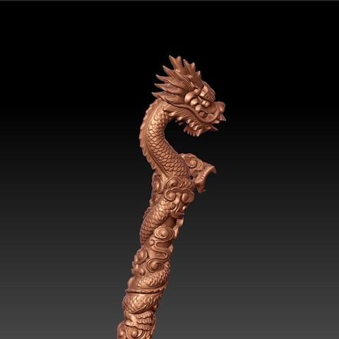 dragonCrutch6.jpg Download free STL file dragon crutch • 3D printer object, stlfilesfree