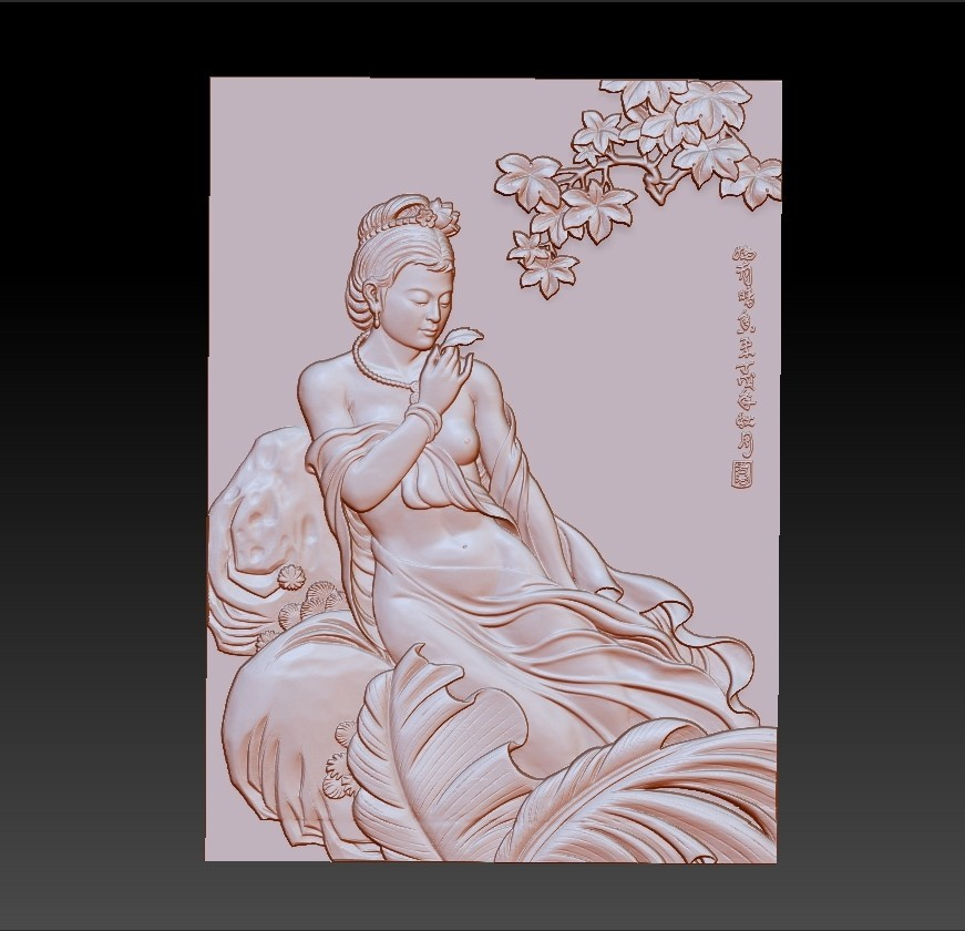 ChineseClassicalBeauty.jpg Download free STL file Chinese classical beauty • 3D print model, stlfilesfree