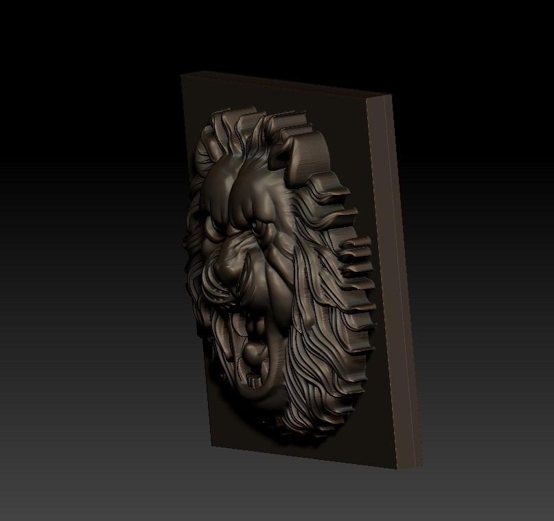 LIONHEAD3.jpg Télécharger fichier STL gratuit tête de lion • Design pour imprimante 3D, stlfilesfree
