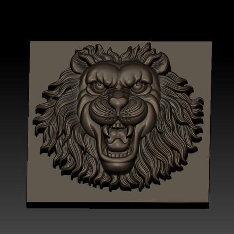 LIONHEAD4.jpg Télécharger fichier STL gratuit tête de lion • Design pour imprimante 3D, stlfilesfree