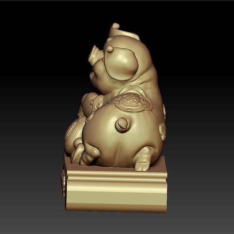 LuckyPig4.jpg Télécharger fichier STL gratuit Cochon chanceux • Plan pour imprimante 3D, stlfilesfree
