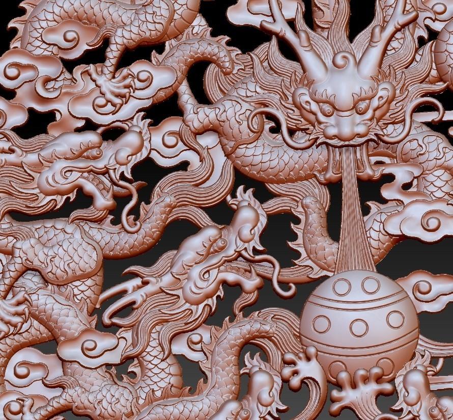 NineDragons5.jpg Download free STL file nine dragons • 3D printable design, stlfilesfree