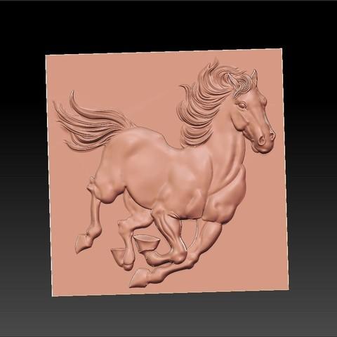 Running_horse5.jpg Télécharger fichier STL gratuit cheval de course • Objet pour imprimante 3D, stlfilesfree