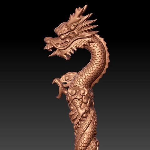 dragonCrutch4.jpg Download free STL file dragon crutch • 3D printer object, stlfilesfree