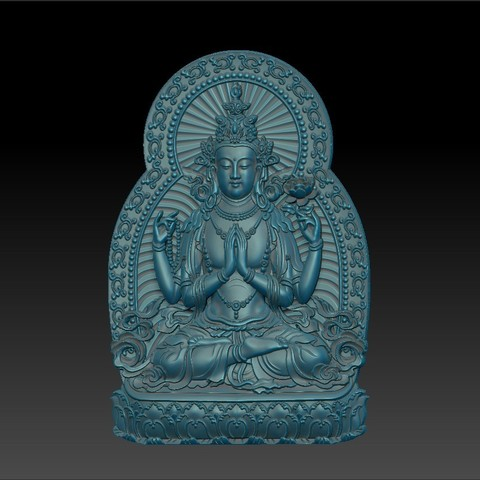 guanyin_bodhisattva_with_thousands_of_hands1.jpg Télécharger fichier STL gratuit Kwan-yin • Objet imprimable en 3D, stlfilesfree