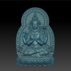 guanyin_bodhisattva_with_thousands_of_hands1.jpg Télécharger fichier STL gratuit Kwan-yin • Objet imprimable en 3D, stlfilesfree