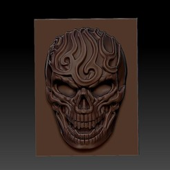 artistic_skull1.jpg Download free STL file artistic skull • Template to 3D print, stlfilesfree