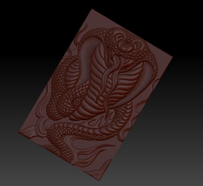 snake5.jpg Télécharger fichier STL gratuit Cobra Snake relief modèle pour cnc • Design imprimable en 3D, stlfilesfree