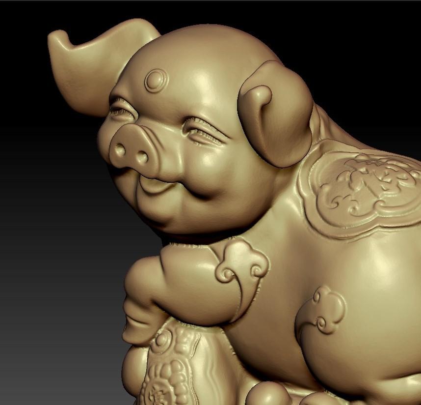 LuckyPig6.jpg Télécharger fichier STL gratuit Cochon chanceux • Plan pour imprimante 3D, stlfilesfree
