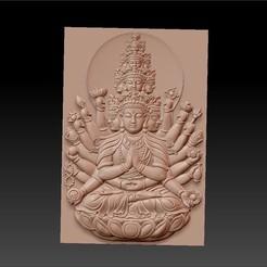 new_guanyin-with_thousands_of_hands1.jpg Télécharger fichier STL gratuit kwan-yin bodhisattva avec des milliers de têtes et de mains • Modèle à imprimer en 3D, stlfilesfree