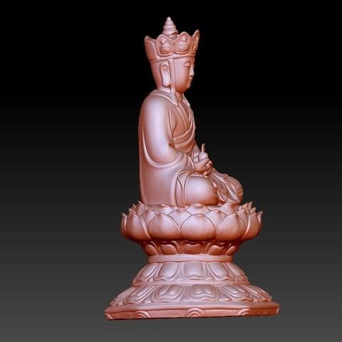 JizoA4.jpg Télécharger fichier OBJ gratuit Bouddha Kshitigarbha • Plan pour impression 3D, stlfilesfree
