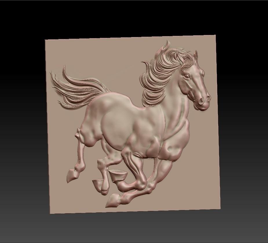 Running_horse3.jpg Télécharger fichier STL gratuit cheval de course • Objet pour imprimante 3D, stlfilesfree