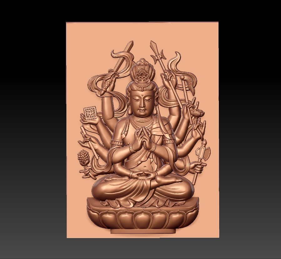 guanyinAQ1.jpg Download free STL file guanyin with thousands of hands • Object to 3D print, stlfilesfree