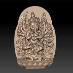 genasha_elephant_god1.jpg Télécharger fichier STL gratuit Ganesha, dieu éléphant • Plan pour imprimante 3D, stlfilesfree
