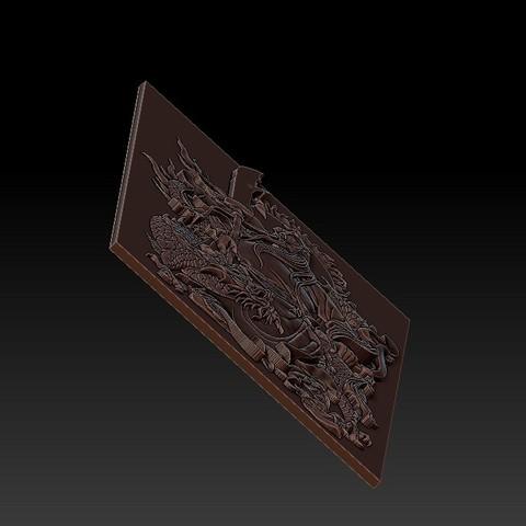 guangongDragon3.jpg Télécharger fichier STL gratuit GuanGong et dragon • Plan imprimable en 3D, stlfilesfree