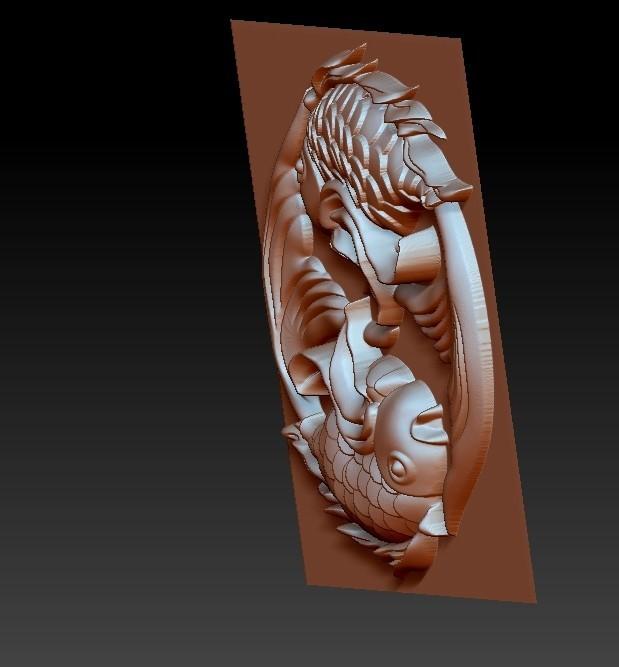 twoFish4.jpg Download free OBJ file cute fish • 3D printer template, stlfilesfree
