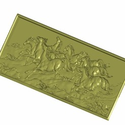 eight_horse3.jpg Download free STL file horses background wall relief 3d model • Object to 3D print, stlfilesfree