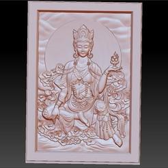 guanyinBasrelief1.jpg Télécharger fichier STL gratuit guanyin kuan-yin buddha modèle 3d de bas-relief • Design pour imprimante 3D, stlfilesfree