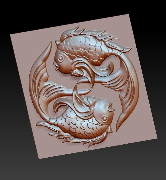 twoFish5.jpg Download free OBJ file cute fish • 3D printer template, stlfilesfree