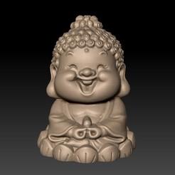 BabyBuddha1.jpg Télécharger fichier STL gratuit bébé Bouddha • Modèle à imprimer en 3D, stlfilesfree
