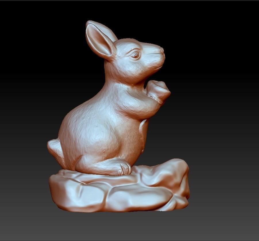 rabbit1.jpg Download free STL file rabbit 3d model • 3D printing template, stlfilesfree