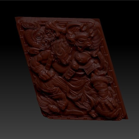 MonkeyKing5.jpg Download free OBJ file monkey king 3d model of bas-relief for cnc • 3D printing model, stlfilesfree