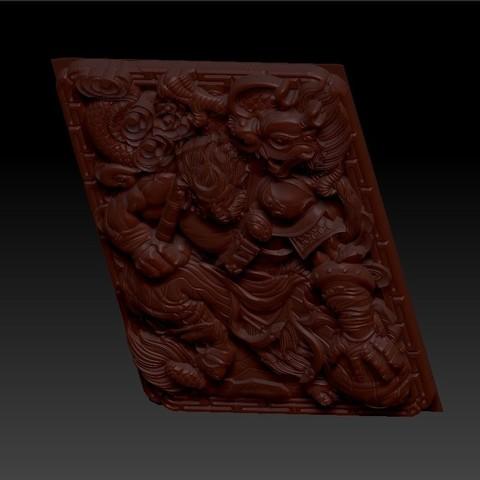 MonkeyKing5.jpg Télécharger fichier OBJ gratuit roi singe 3d modèle de bas-relief pour cnc • Modèle pour impression 3D, stlfilesfree