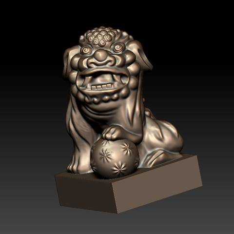 FooDogsDDD1.jpg Download free STL file guardian lions or Foo Dogs • Template to 3D print, stlfilesfree
