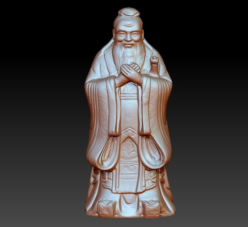 ConfuciusSmall1.jpg Download free OBJ file Confucius statue • 3D printing object, stlfilesfree