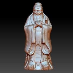 ConfuciusSmall1.jpg Télécharger fichier OBJ gratuit Statue de Confucius • Objet imprimable en 3D, stlfilesfree
