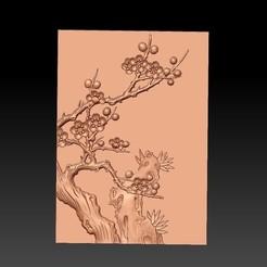 Plum_blossom1.jpg Télécharger fichier STL gratuit fleur de prunier • Objet pour impression 3D, stlfilesfree